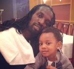 Mavado and his son at Philippe Chow