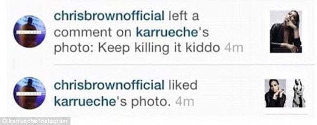 Chris Brown Karrueche Instagram