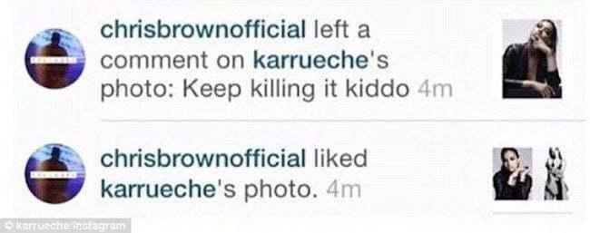 Chris Brown Karrueche Instagram