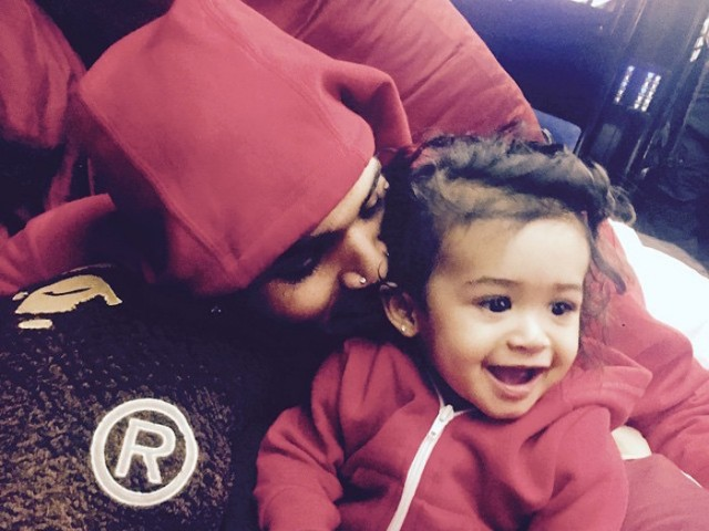 Chris Brown Shares Adorable Photos Of Daughter Royalty On IG