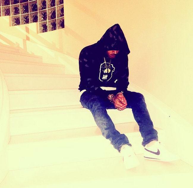 Chris Brown sad