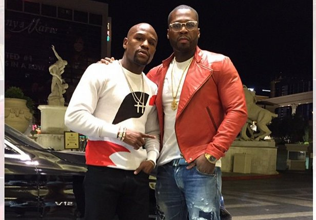 Floyd Mayweather and 50 Cent pic