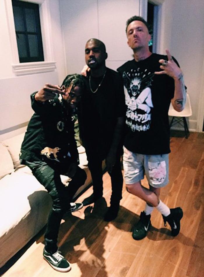 Kanye West Travis Scott birthday party