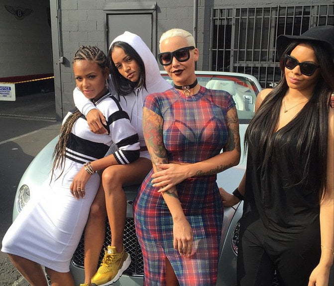 Karrueche Tran Christina Milian and Amber Rose