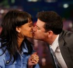 Rihanna and Jimmy Kimmel kiss