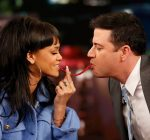 Rihanna and Jimmy Kimmel live