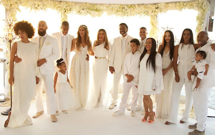 Tina Knowles Richard wedding photo
