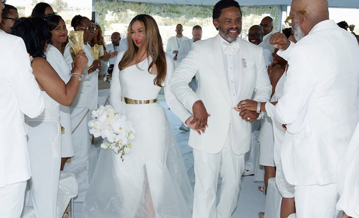 Tina Knowles Richard wedding pic