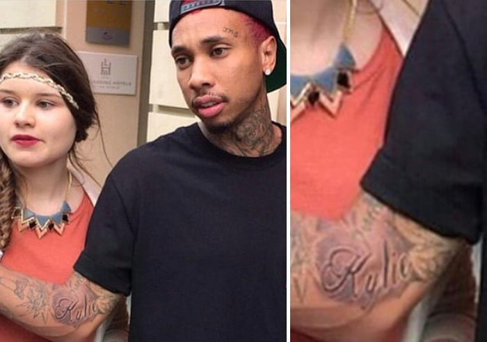 Tyga Kylie tattoo