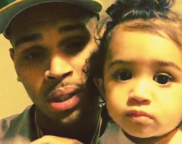"Chris Brown Daughter Royalty Says ""Da Da"" In Adorable Video"