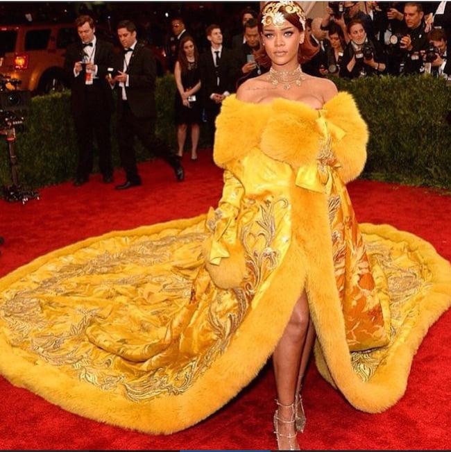 MET Gala 2015 Rihanna Gown