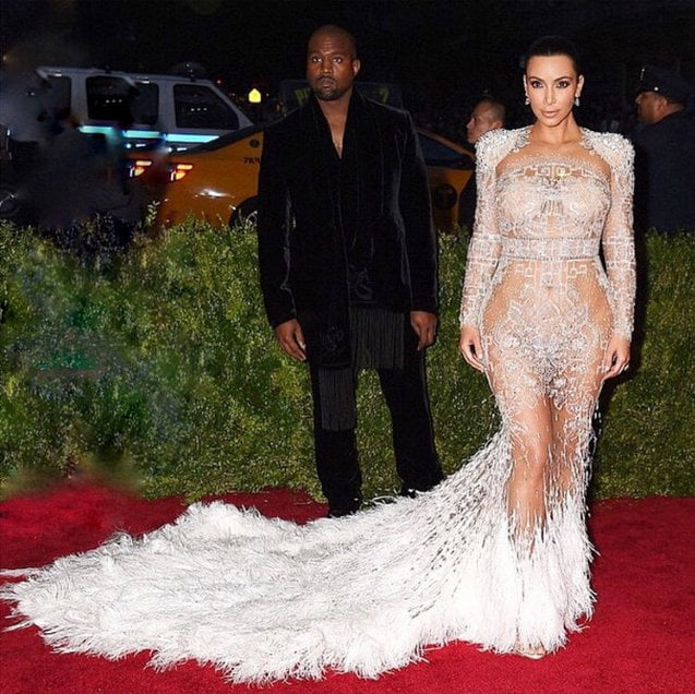 Met Gala 2015 Kanye West and Kim Kardashian