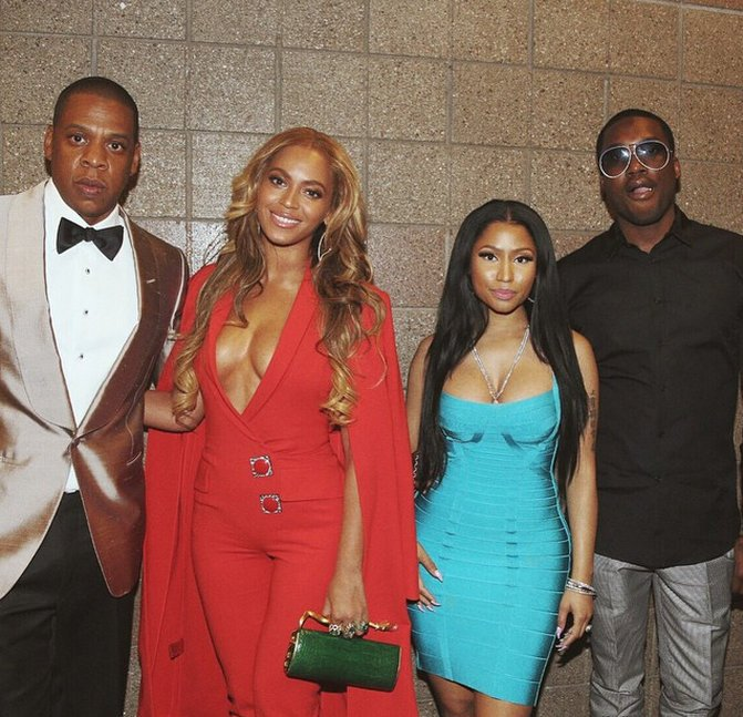 Nicki Minaj Meek Mill Beyonce and Jay Z