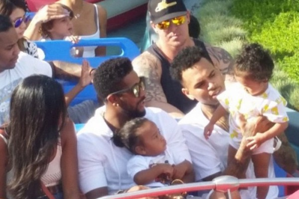 Chris Brown And Royalty Takes Over Disney Land [PHOTO]