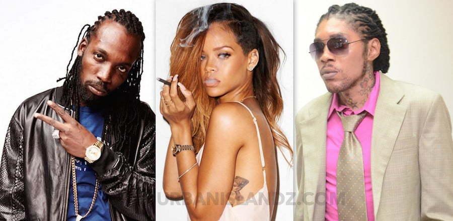Mavado Rihanna and Vybz Kartel