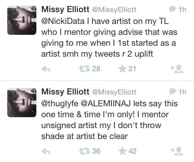 Missy Nicki Minaj Twitter