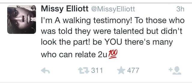 Missy Nicki Minaj twitter shade