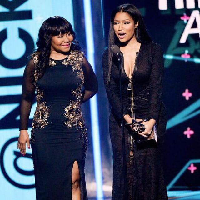 Nicki Minaj and her mother BET Awards