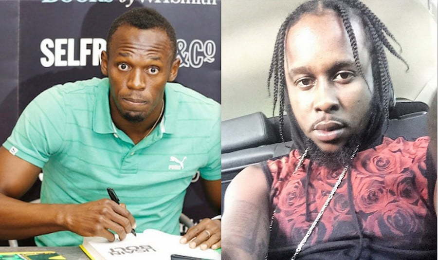 Usain Bolt and Popcaan