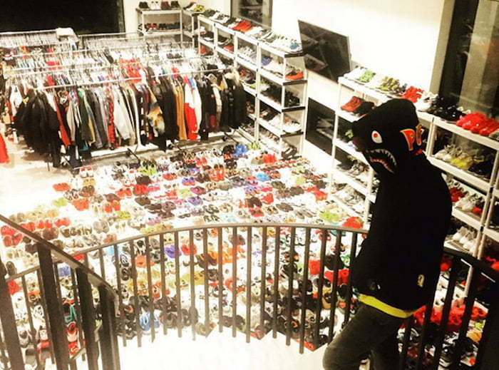 Chris Brown closet