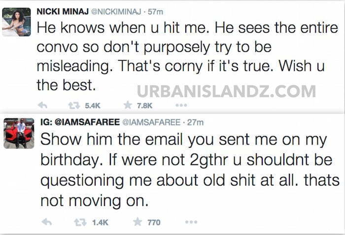 Nicki Minaj Safaree Twitter beef