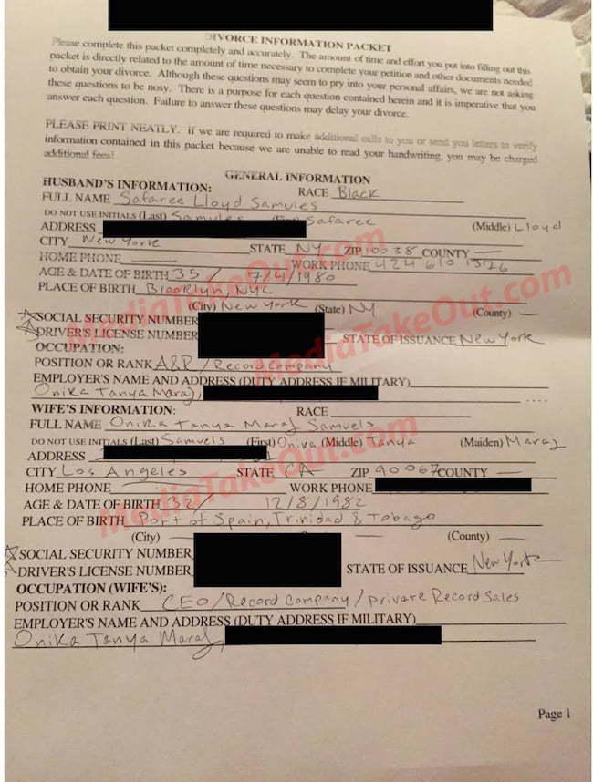 Nicki Minaj Safaree divorce doc