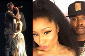 Nicki Minaj Grabbing Meek Mill Junk On Stage PinkPrint Tour [WATCH]