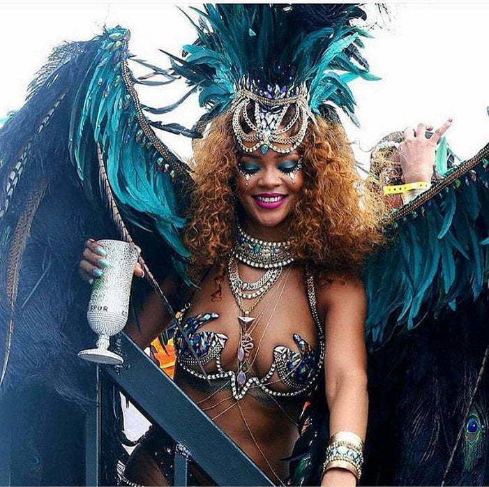 Rihanna 2015 Carnival outfit