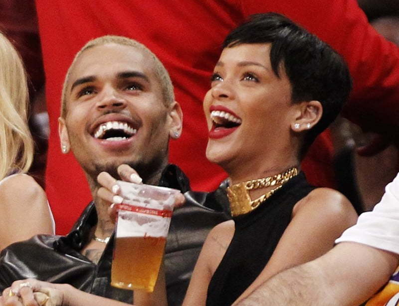 Rihanna Chris Brown laugh