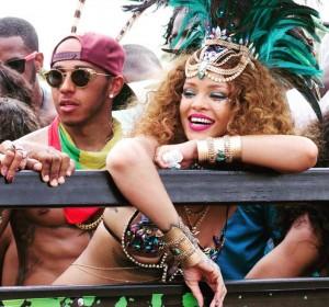 Rihanna Heats Up Barbados Carnival .. Lewis Hamilton Dating Rumors