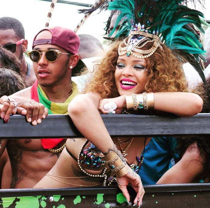 Rihanna Lewis Hamilton dating