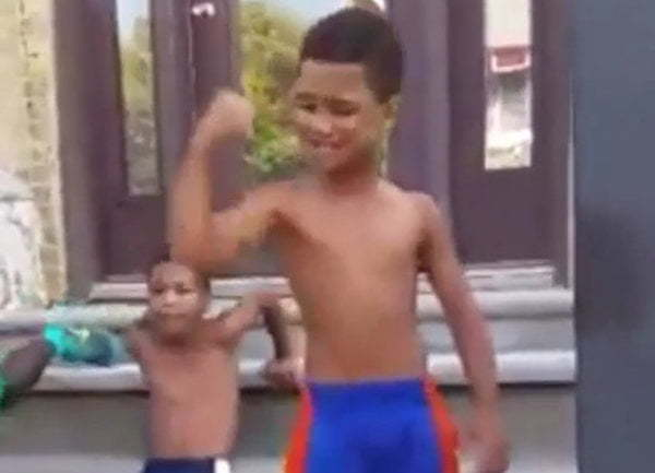 8 Year Old Jamaican Kid Workout Sensation Video Goes Viral