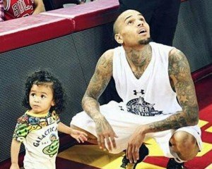 Chris Brown Takes Royalty To His Basketball Game