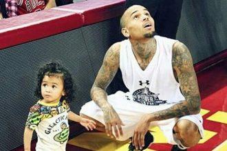Chris Brown Takes Royalty To His Basketball Game