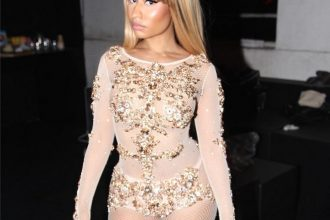 Nicki Minaj Rocked Sheer Bodysuit In Milan For Fashion Week