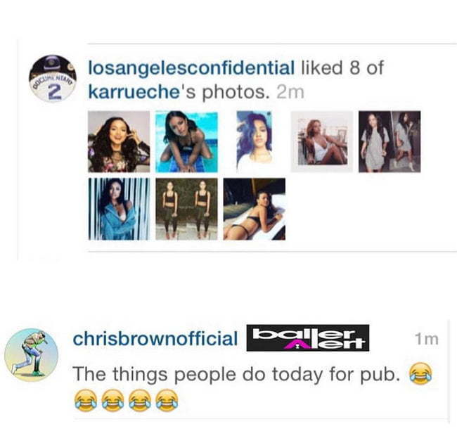 The Game Karrueche Chris Brown comment