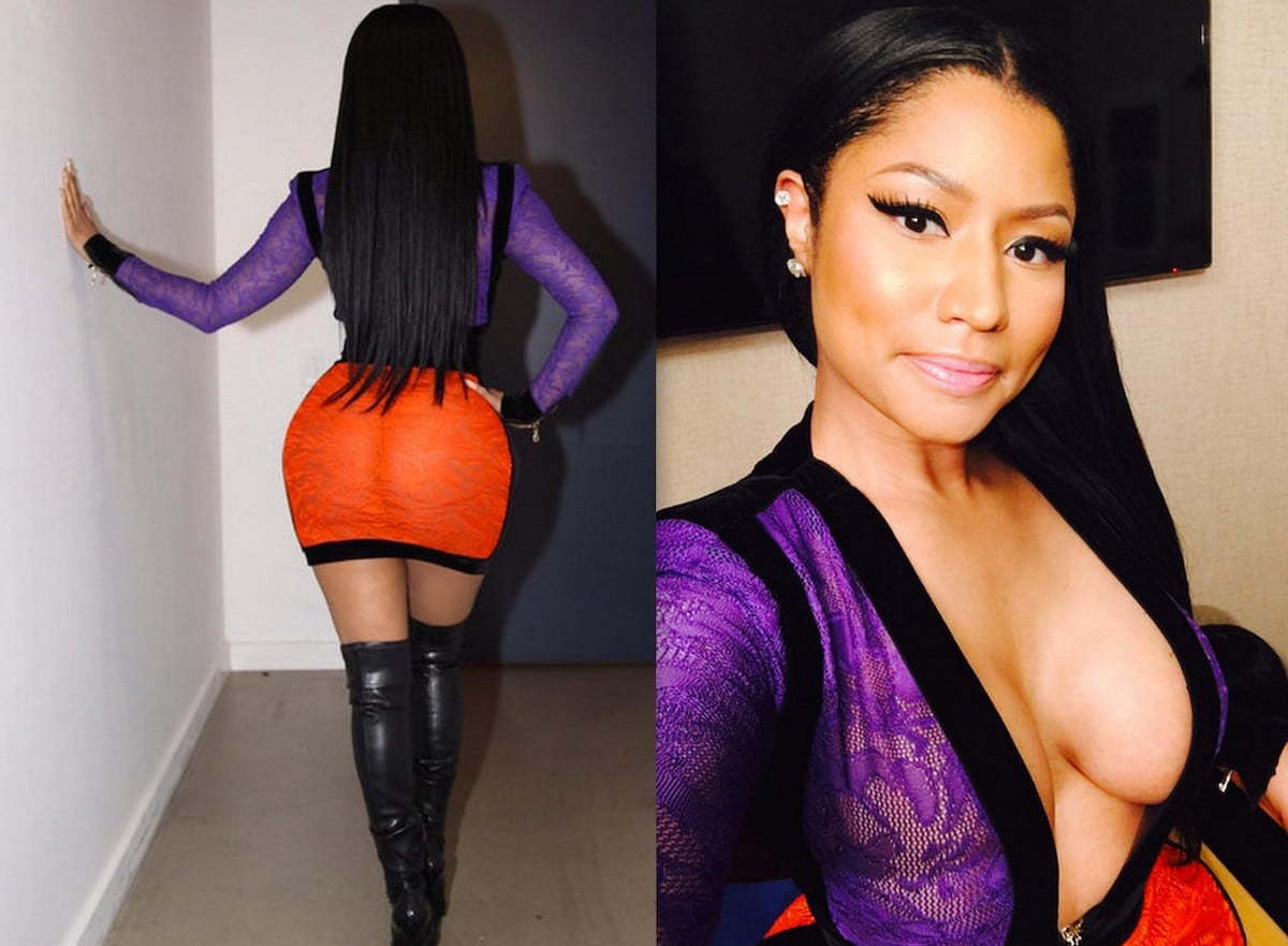 nicki minaj 2016 go to nicki minaj wears racy curve hugging outfit for ...