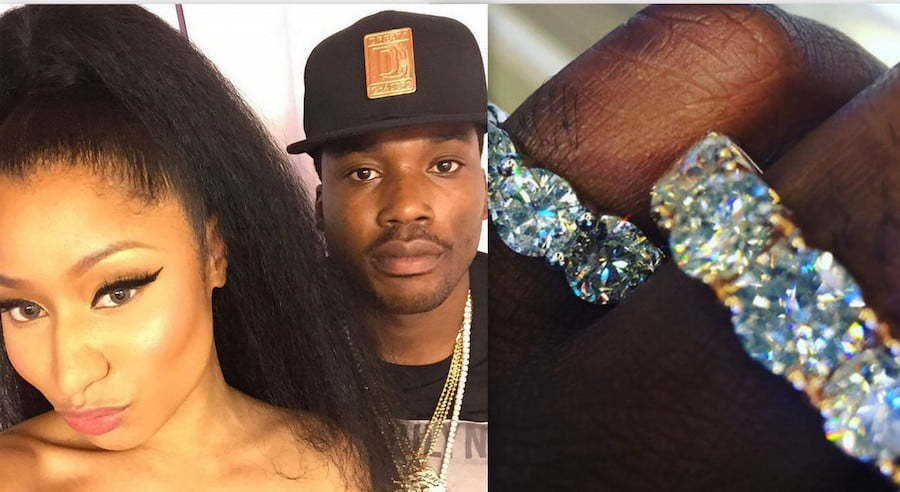 Meek Mill And Nicki Minaj Show Off Wedding Ring, Did They Get Married