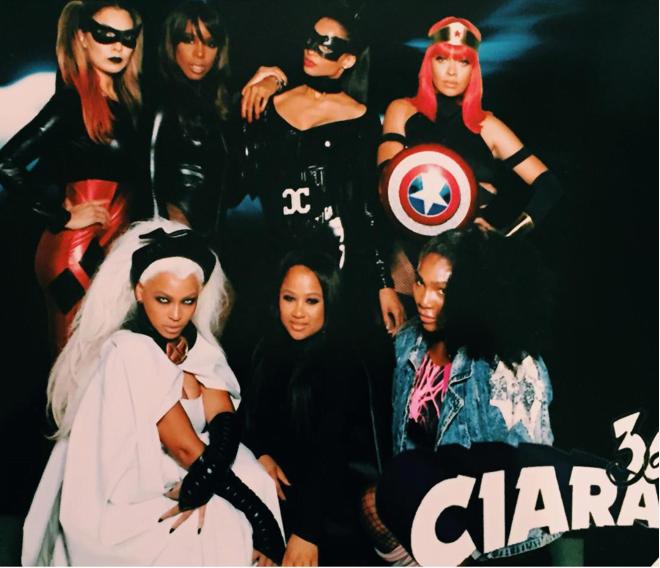 Ciara Beyonce at her Birthday bash