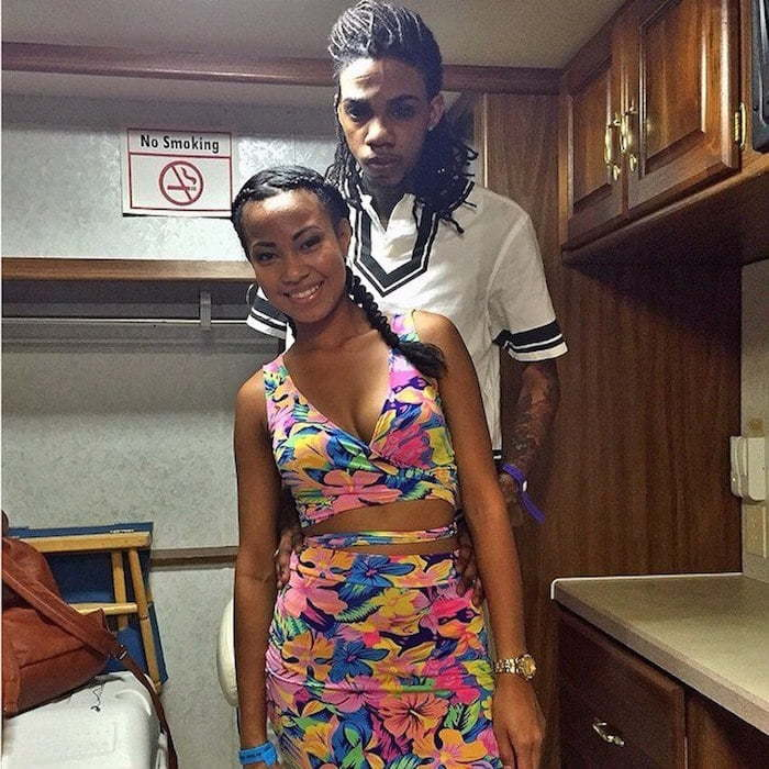Alkaline and girlfriend engage