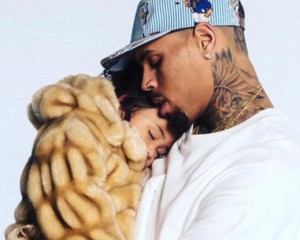 """Chris Brown Cuddles Royalty """"Please Don't Grow Up"""""""