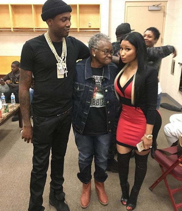 Nicki Minaj Meek mill grandmother