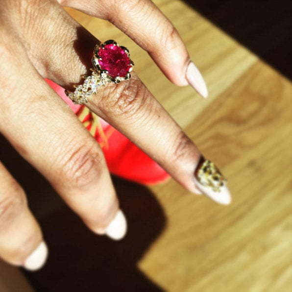 Teyana Taylor engagement ring