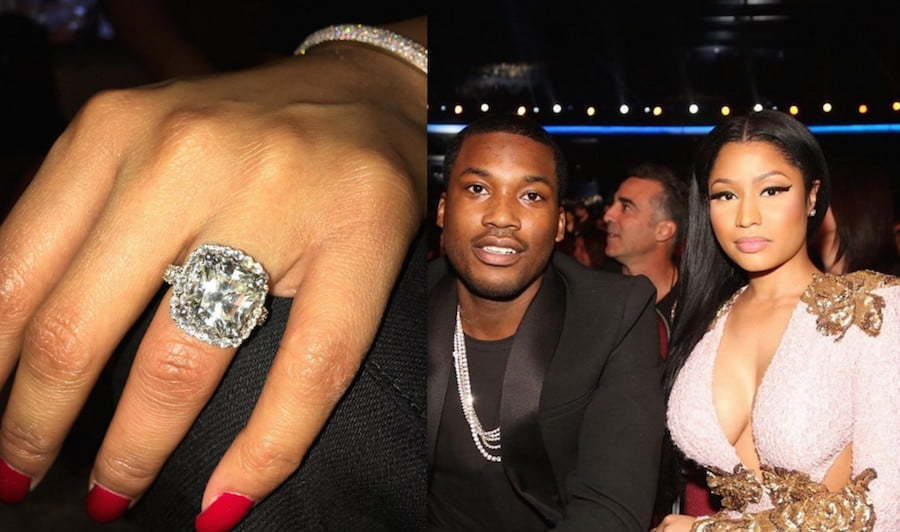 Nicki Minaj Meek Mill engagement ring