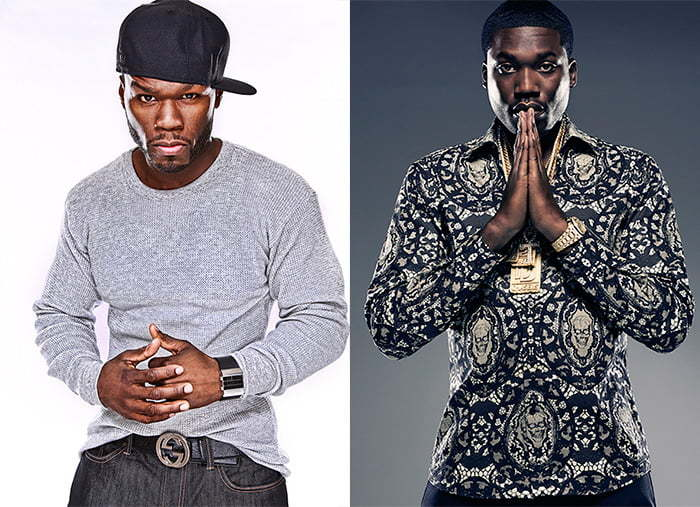 50 Cent and Meek Mill beef