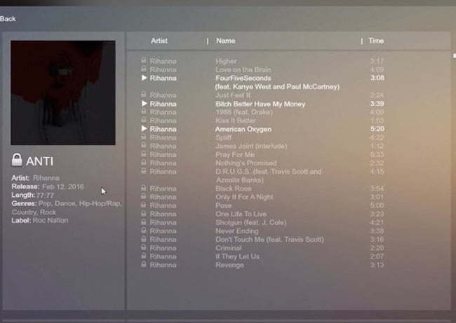 ANTI tracklist