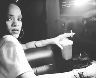 Rihanna Sings and Dance To 'This Is What You Came For' While Smoking Joint and Getting Her Nails Done