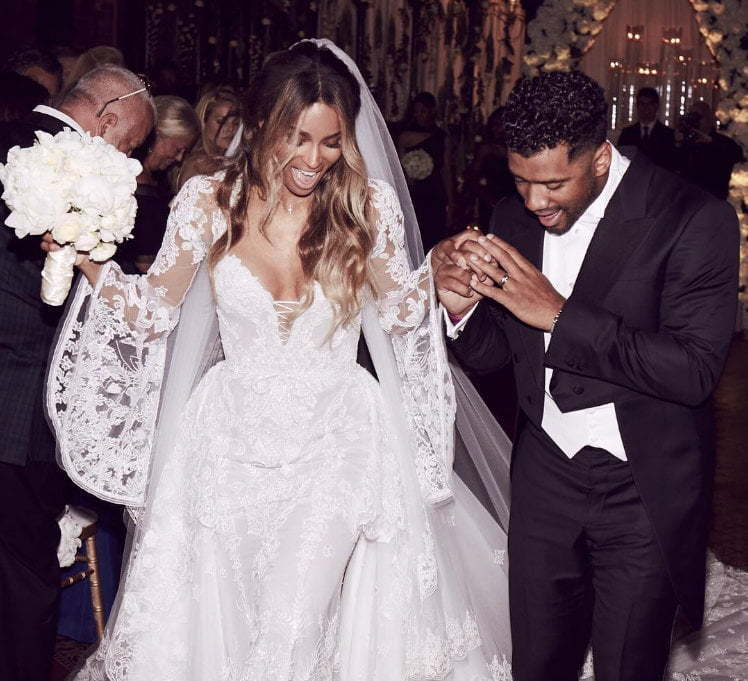 Ciara Russell Wilson wedding photo