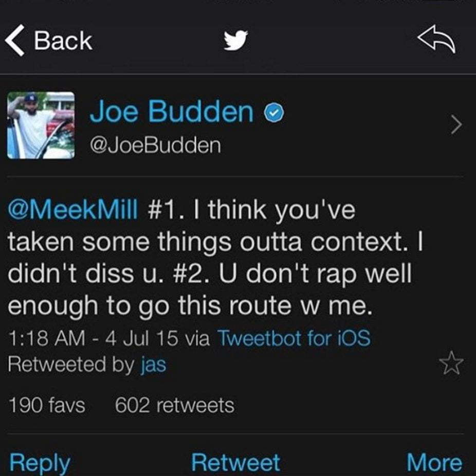 Joe Budden diss Meek mill