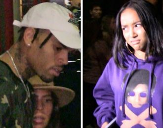 Chris Brown and Karrueche Tran Awkward Encounter At Kylie Jenner Birthday Party